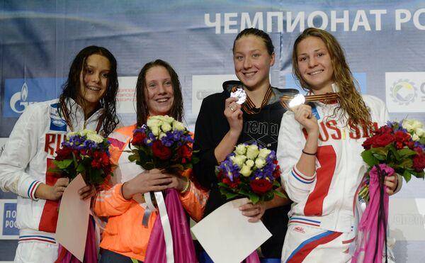 Валерия Саламатина, Анастасия Кирпичникова, Дарья Устинова и Полина Лапшина (слева направо)
