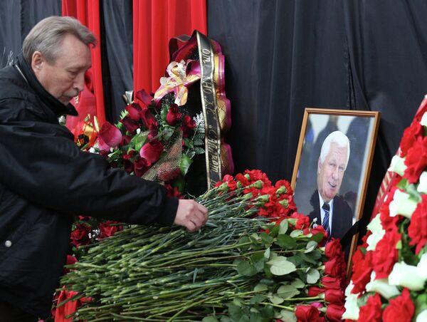 Прощание с хоккейным тренером Сергеем Михалевым