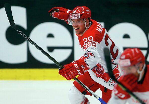 Нападающий сборной Дании по хоккею Мортен Мадсен