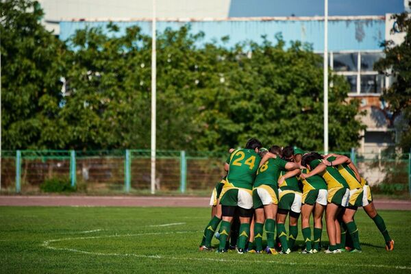 Игроки регбийного клуба Кубань