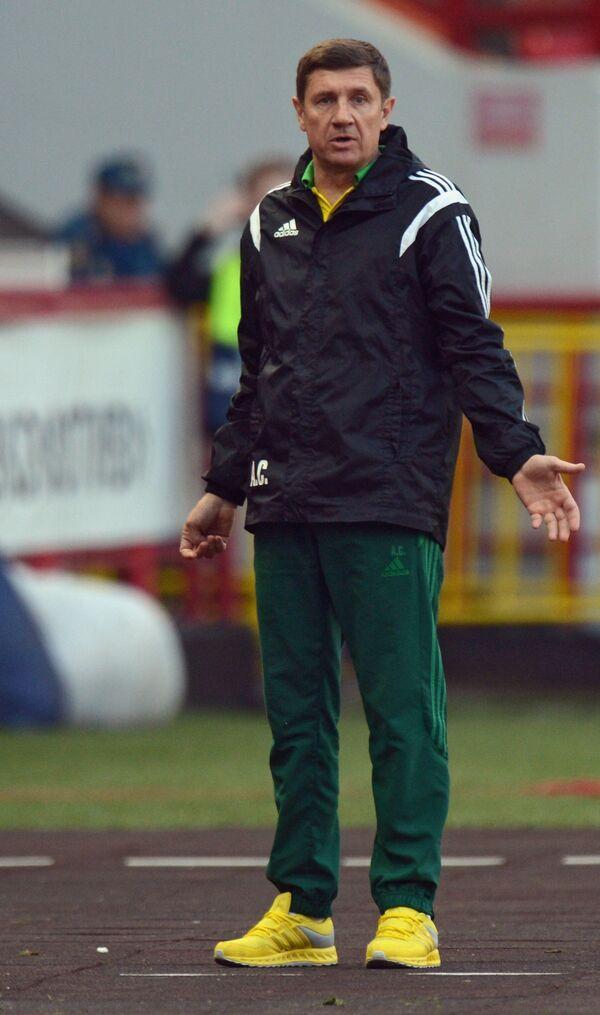 Исполняющий обязанности главного тренера Кубани Андрей Сосницкий
