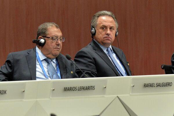 Виталий Мутко (справа) и Рафаэль Сальгеро