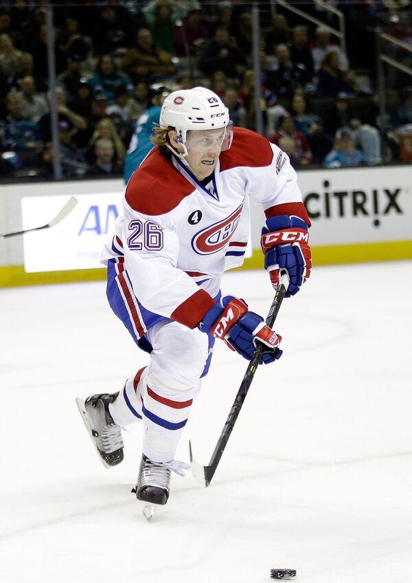 Защитник клуба НХЛ  Монреаль Канадиенс Джефф Петри