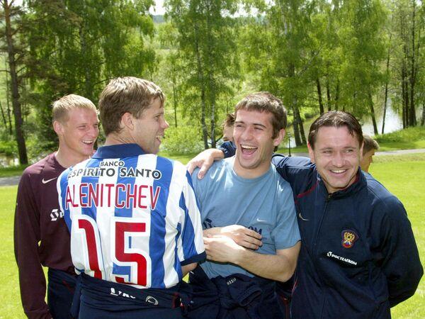Вячеслав Малафеев, Владислав Радимов, Александр Кержаков и Дмитрий Аленичев (слева направо)