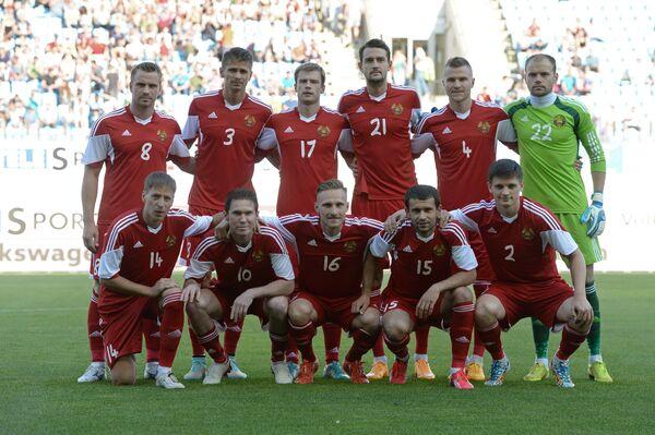Футболисты сборной Белоруссии