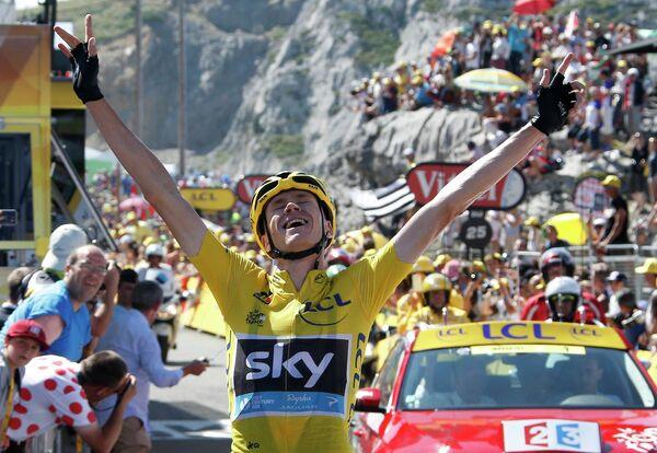 Британский велогонщик команды Sky Крис Фрум