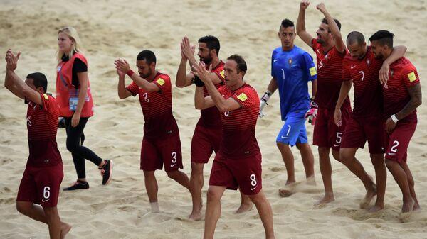 Игроки сборной Португалии по пляжному футболу