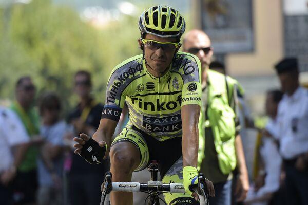 Гонщик российской команды Tinkoff-Saxo Альберто Контадор