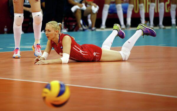 Либеро женской сборной России по волейболу Анна Малова