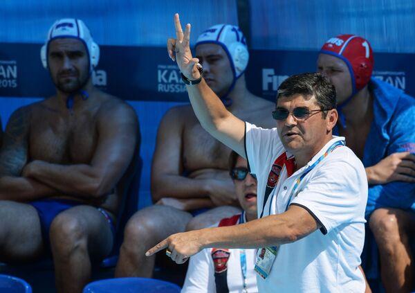 Главный тренер мужской команды России по водному поло Эркин Шагаев