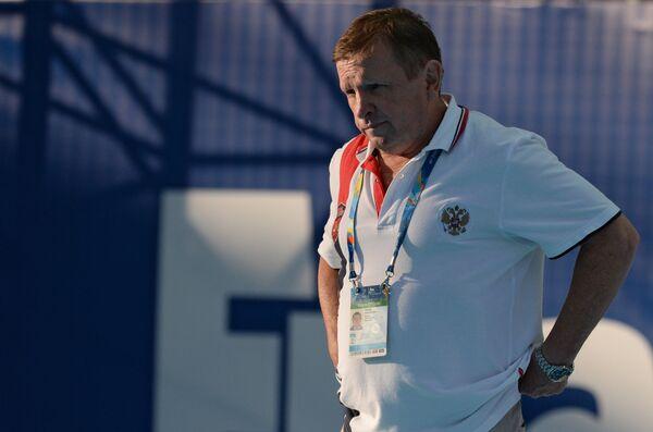 Главный тренер женской сборной России по водному поло Михаил Накоряков