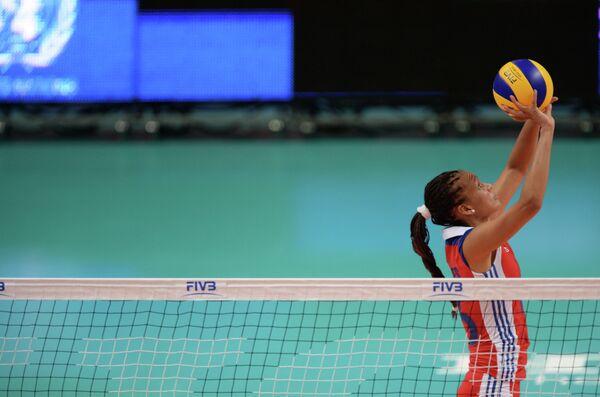 Волейболистка сборной Кубы Беатрис Вильчес