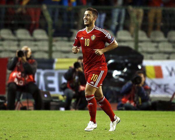 Полузащитник сборной Бельгии по футболу и лондонского Челси Эден Азар