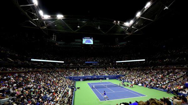 Вид на корт во время матча US Open