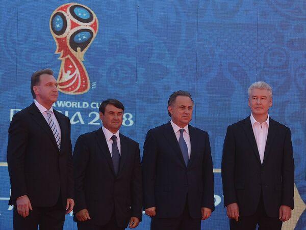 Игорь Шувалов, Игорь Левитин, Виталий мутко и Сергей Собянин (слева направо)