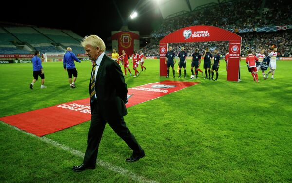 Главный тренер сборной Шотландии по футболу Гордон Страчан