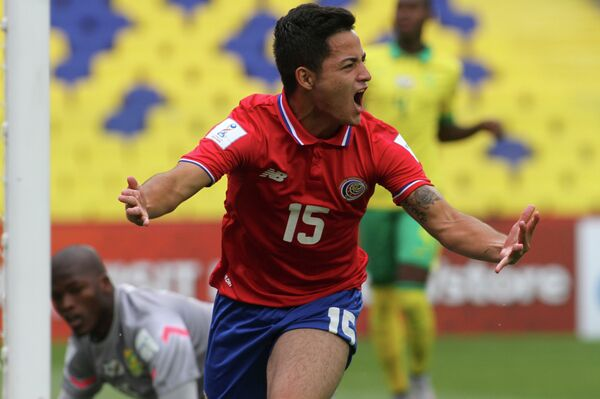 Игрок юношеской сборной Коста-Рики по футболу (игроки не старше 17 лет) Кевин Масис Гонсалес