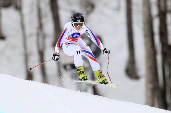 Российская горнолыжница Елена Простева