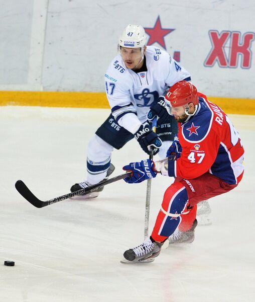 Игровой момент матча ЦСКА - Динамо