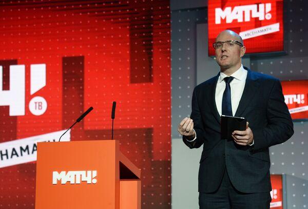 Генеральный директор Газпром-Медиа Холдинга Дмитрий Чернышенко на приёме по случаю запуска вещания телеканала Матч ТВ