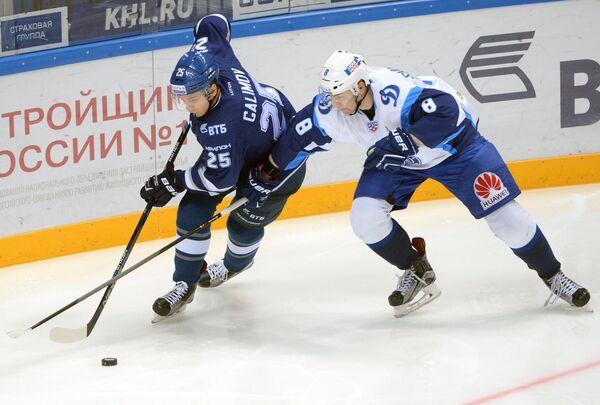 Игровой момент матча Динамо (Москва) - Динамо (Минск)
