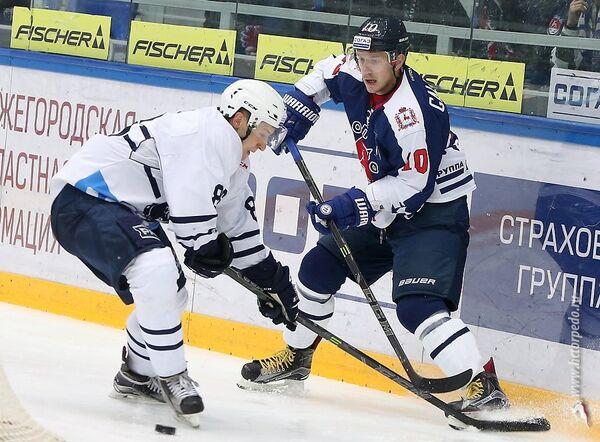 Игровой момент матча Медвешчак - Торпедо