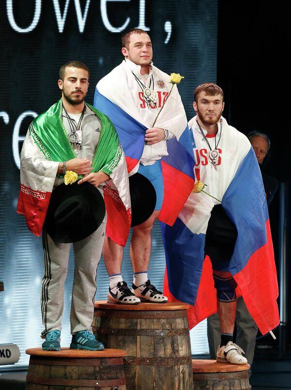 Киануш Ростами, Артем Окулов и Апти Аухадов (слева направо)