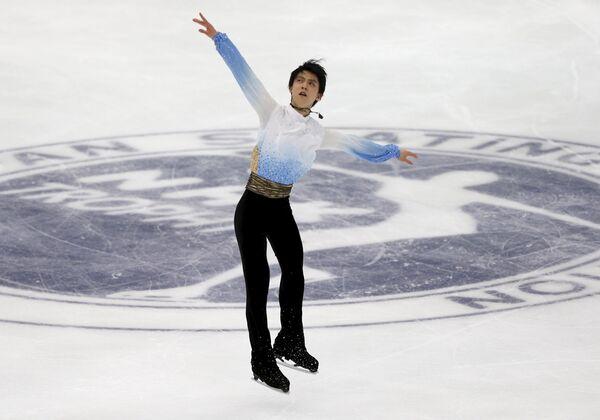 Олимпийский чемпион Сочи в одиночном фигурном катании японец Юдзуру Ханю