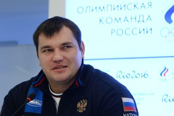 Российские тяжелоатлет Алексей Ловчев