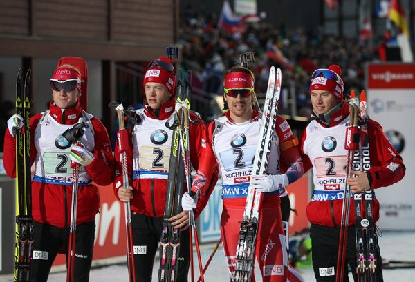 Йоханнес и Тарьей Бё, Эмиль Хегле Свендсен, Хенрик Л'Абе-Лунн (слева направо)