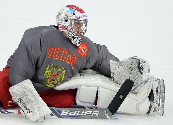Вратарь сборной России по хоккею Илья Сорокин