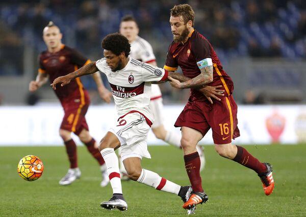 Игровой момент матча Рома - Милан
