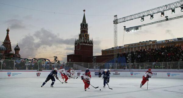 Игровой момент «матча звезд» Континентальной хоккейной лиги