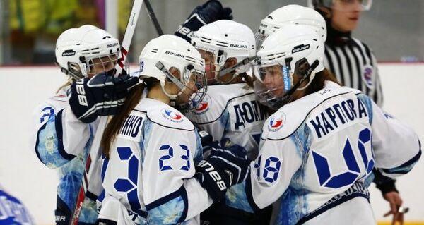 Хоккеистки санкт-петербургского Динамо