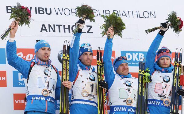 Антон Шипулин, Дмитрий Малышко, Евгений Гараничев и Максим Цветков (слева направо)