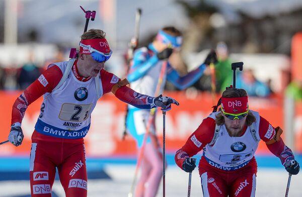 Слева направо: Йоханнес Бё (Норвегия) и Эрленд Бьёнтегард (Норвегия)