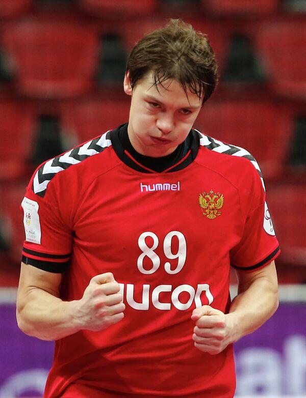Гандболист сборной России Дмитрий Житников