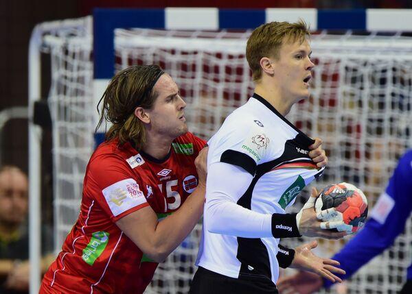 Игровой момент матча Германия - Норвегия