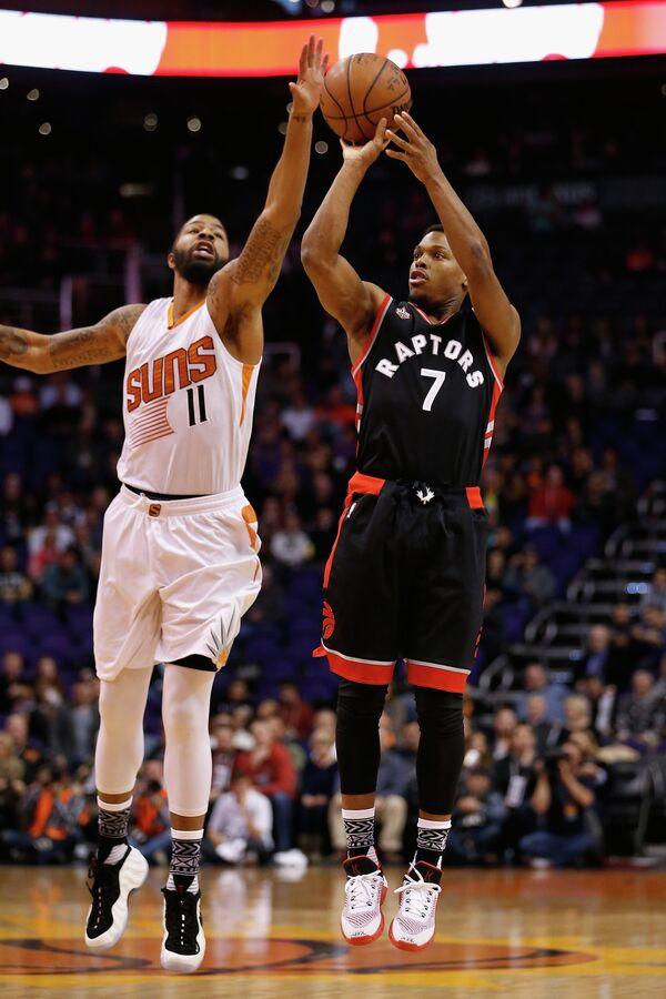 Игровой момент матча НБА Финикс Санз - Торонто Рэпторс