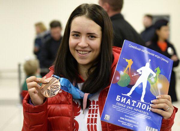Биатлонистка Екатерина Понеделко
