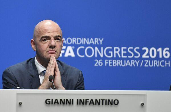 Новый президент Международной федерации футбола (ФИФА) Джанни Инфантино