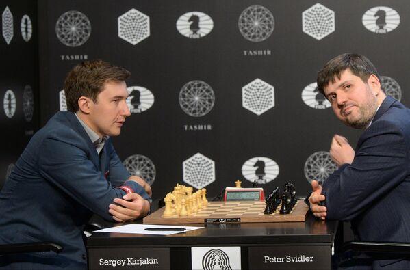 Сергей Карякин и Петр Свидлер (слева направо)