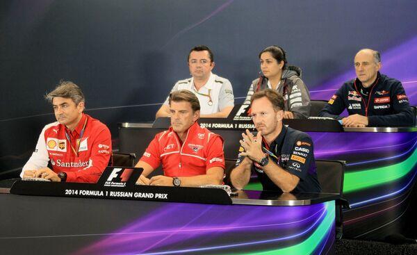 Пресс-конференция руководителей команд Формулы-1