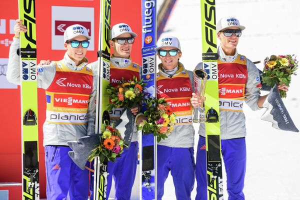 Йоханна Андре Форфанг, Кеннет Гангнес, Андерс Фаннемель и Даниэль-Андре Танде (слева направо)