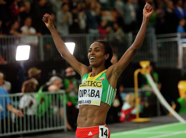 Легкоатлетка из Эфиопии Гензебе Дибаба