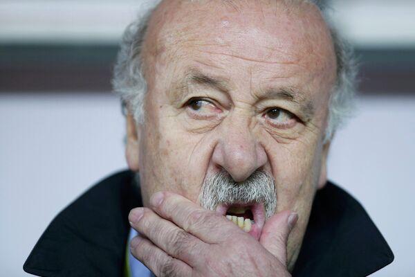 Главный тренер сборной Испании по футболу Висенте дель Боске