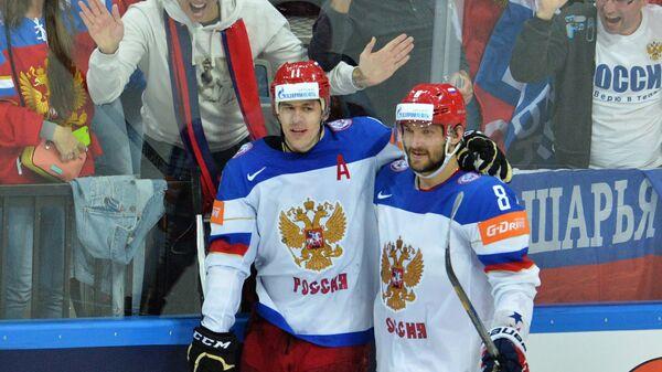 Евгений Малкин (слева) и Александр Овечкин
