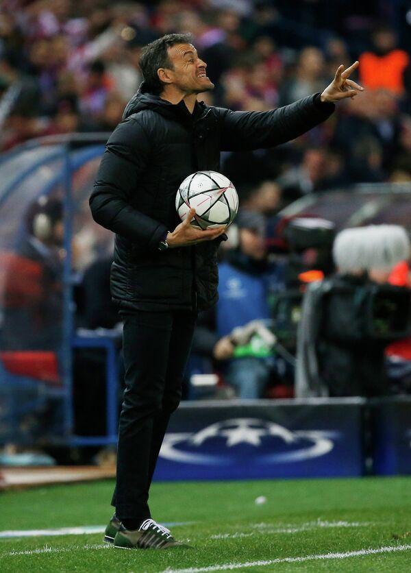 Главный тренер испанской Барселоны Луис Энрике