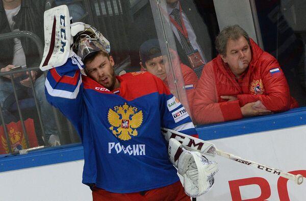 Вратарь сборной России Семён Варламов