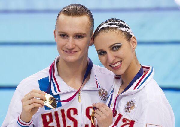 Российские синхронисты Александр Мальцев и Михаэла Каланча